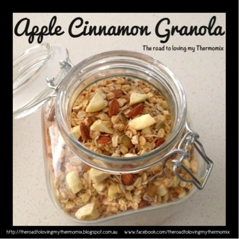Apple Cinnamon Granola - The Road to Loving My Thermo Mixer
