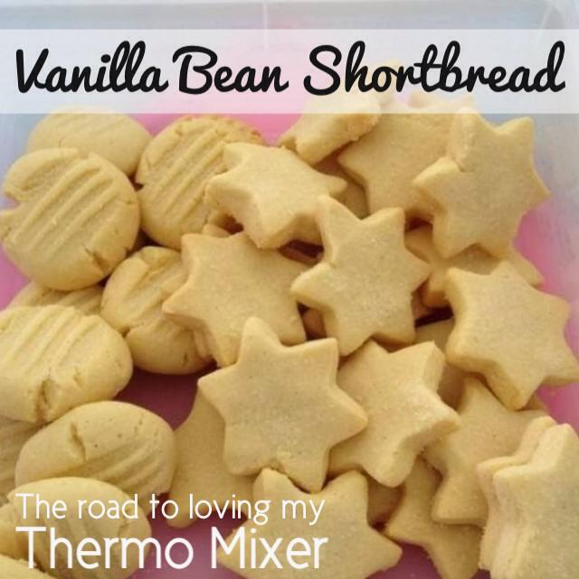 Vanilla Bean Shortbread – The Road to Loving My Thermo Mixer
