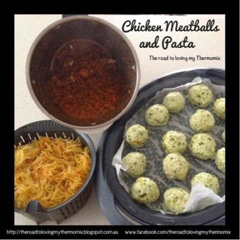Chicken Meatball Bake | The Road to Loving My Thermo Mixer