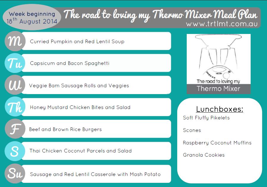 TRTLMT Meal Plan 18.8.2014