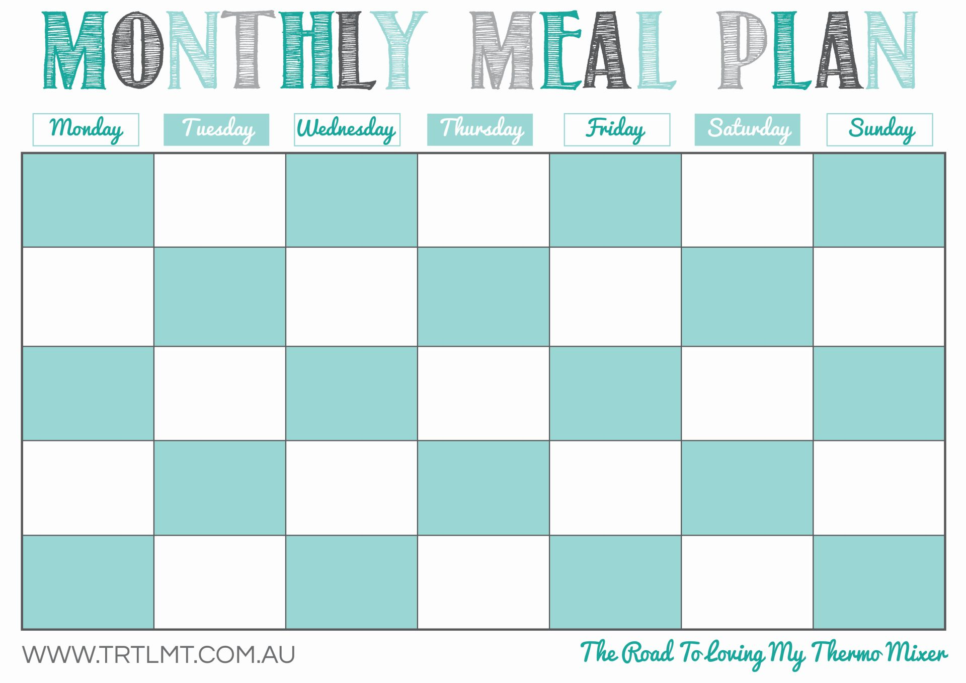 Monthly Meal Plan FB