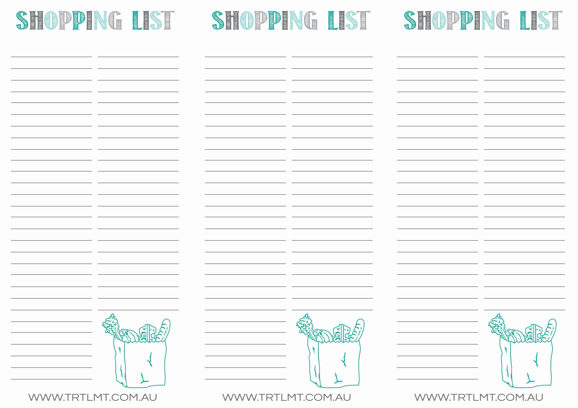 Shopping List FB