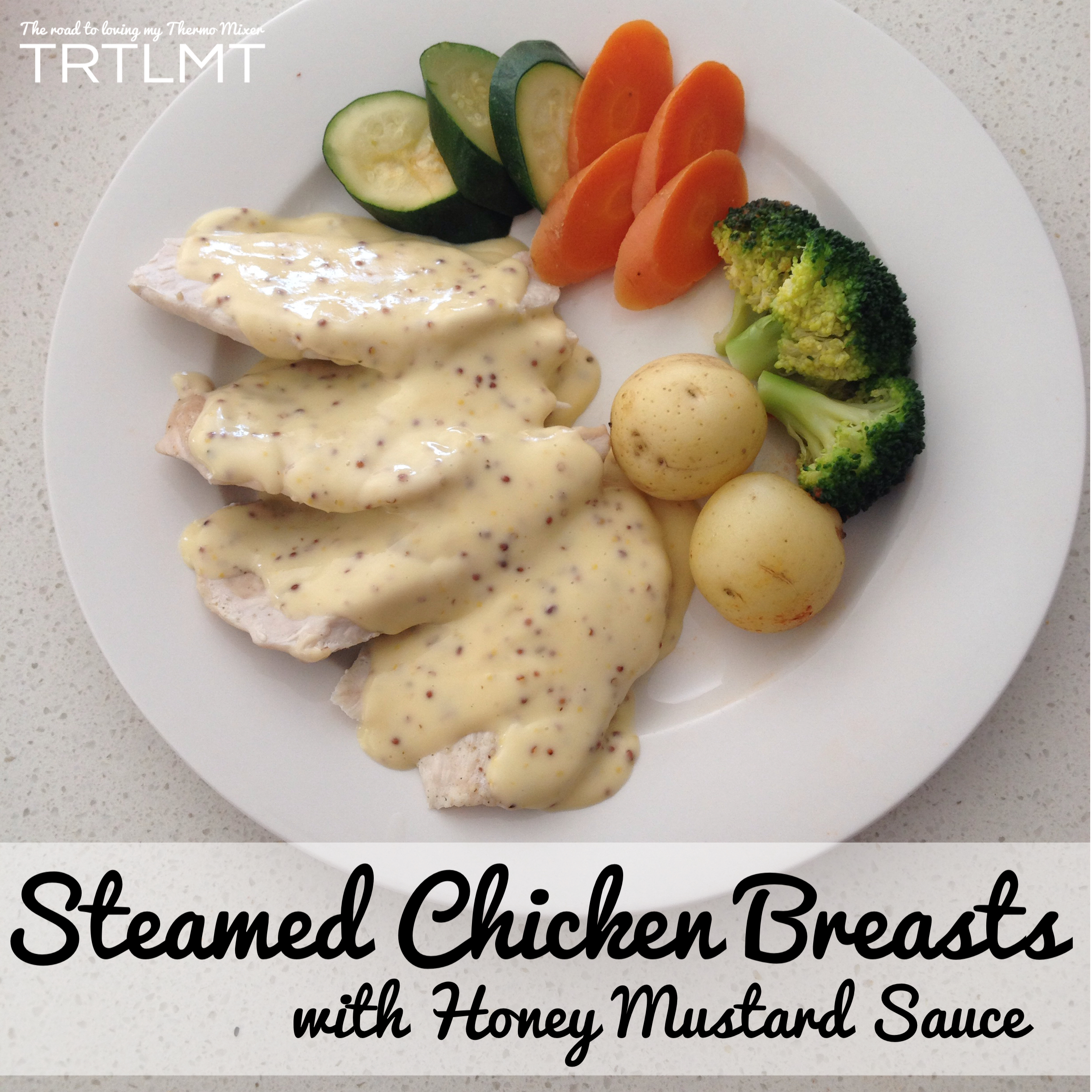 Steamed chicken breasts with honey mustard sauce the road to steamed chicken breasts with honey mustard sauce forumfinder Image collections