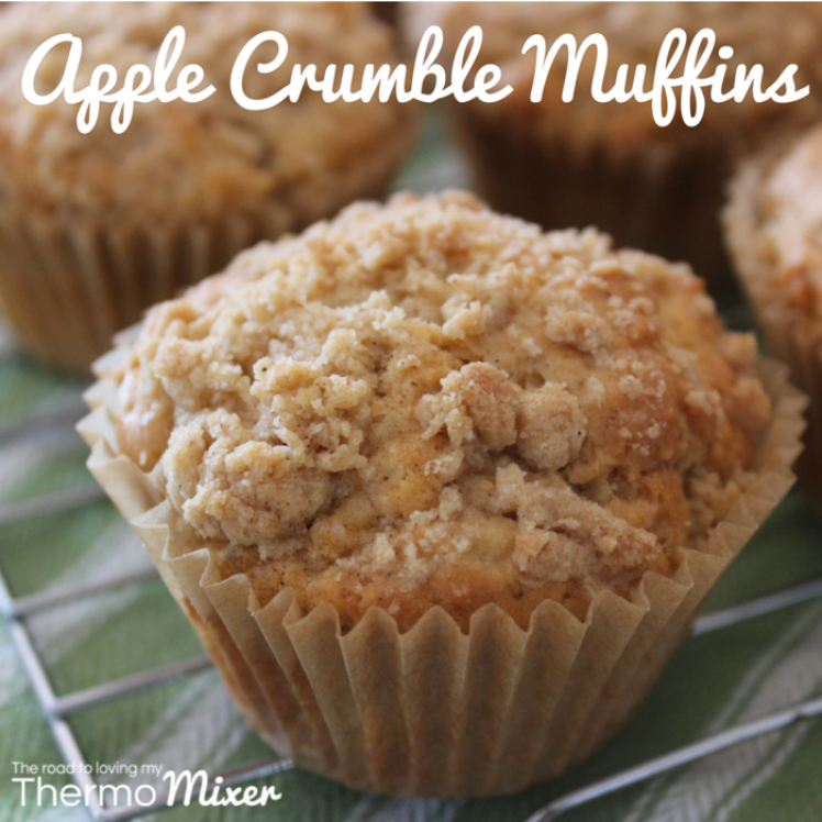 apple crumble muffins the road to loving my thermo mixer. Black Bedroom Furniture Sets. Home Design Ideas