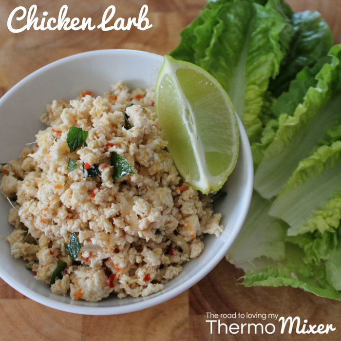 Chicken Larb – The Road to Loving My Thermo Mixer