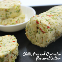 Thermomix flavoured butter - Chilli, Lime and Coriander