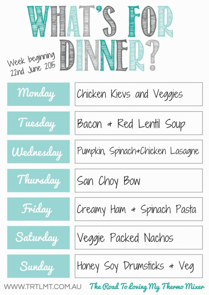TRTLMT Meal Plan 22.6.2015