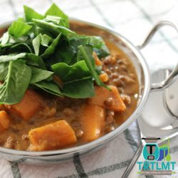 Indian Spiced Spinach Lentil Stew