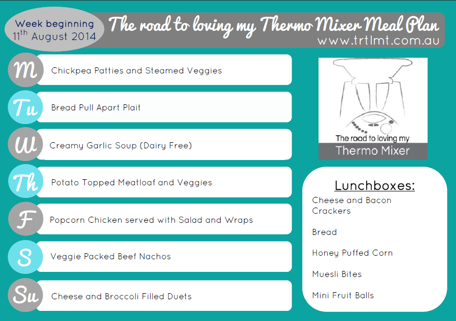 TRTLMT Meal Plan 11.8.2014