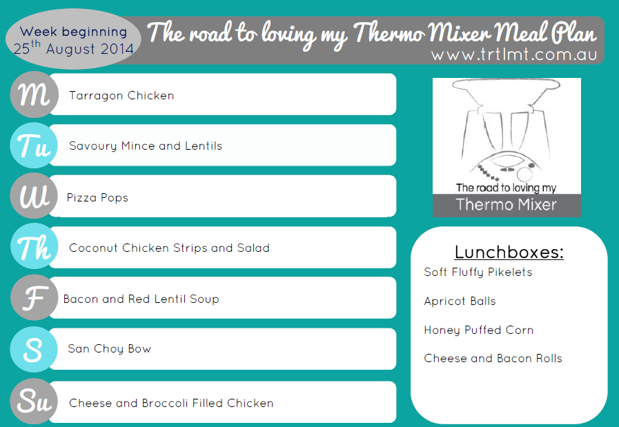 TRTLMT Meal Plan 25.8.2014