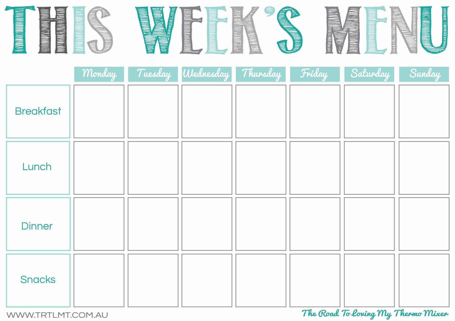 This Week's Menu 2 FB