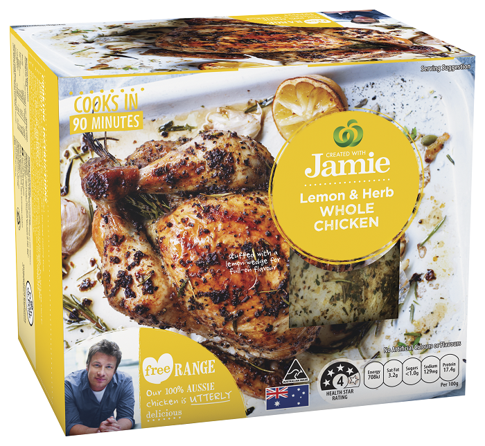Created with Jamie Lemon and Herb Whole Chicken